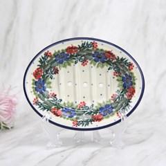 폴란드그릇 아티스티나 욕실용품 도자기 비누받침1535