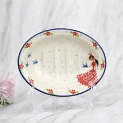 폴란드그릇 아티스티나 욕실용품 도자기 비누받침2523