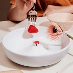 온나 아트 디저트 접시 샐러드볼 그릇(소형)