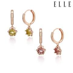 알렉산드라이트 심플 목걸이 귀걸이 세트 EL2SET015_(1100063)