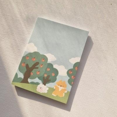 주스 사과나무숲 떡메모지