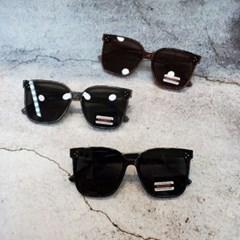 사각 심플 가벼운 도수없는 그레이 패션 선글라스