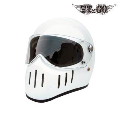 티티앤코 톰슨 TT02D 풀페이스헬멧 - 유광 화이트
