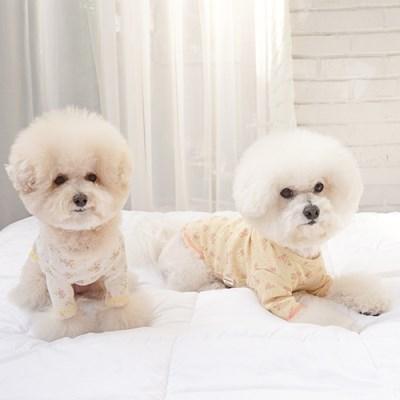 꽃무늬티셔츠 강아지실내복 강아지옷 청순티셔츠_(1314056)