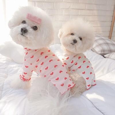 애견실내복 강아지잠옷 귀여운강아지옷 하트날날이 티셔_(1314053)
