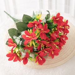 벨벳릴리부쉬 43cm 조화 꽃 인테리어 장식 FAIAFT