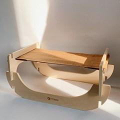 두리뭉실 고양이 해먹 침대 원목 쿠션 방석 라운딩