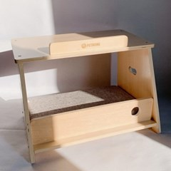 두리뭉실 고양이 해먹 침대 쿠션 방석 원목 하우스 쏙쏙