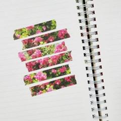 [본쥬흐네] 장미꽃 마스킹테이프 12mm*10M