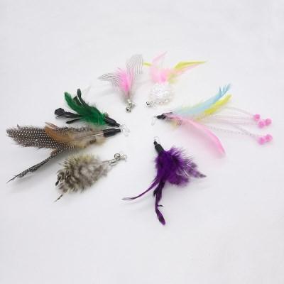 묘심 캣치더테일 고양이 자동장난감 낚시대 깃털리필 7종 전부다