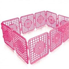 펫츠코 캐슬(울타리) 중형 10p-핑크
