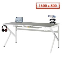 에이픽스 1인용 컴퓨터 책상 GD001 1600L 화이트 1600x800