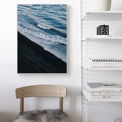 바다 포스터 인테리어 액자 _파도와 거품들