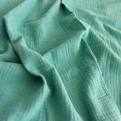 [Fabric] 피그먼트 거즈 2중지 에메랄드 그린