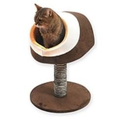 파스텔 인조 모피 조립형 캣타워 고양이 휴식 기구