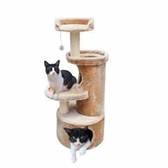 유로펫 점프 고양이 캣타워 크림