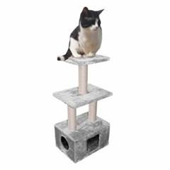 유로펫 고양이 캣타워 뱅갈라이트그레이 30x40x99cm