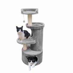 유로펫 점프 고양이 캣타워 그레이
