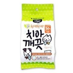강아지 핑거칫솔 손가락 치아깨끗 물티슈 30매x3개