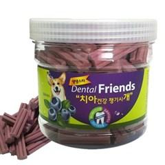 강아지 치아 건강 덴탈 프랜즈 블루베리 300g 치석