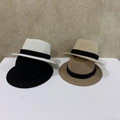 챙넓은 데일리 패션 검정띠 데일리 페도라 모자