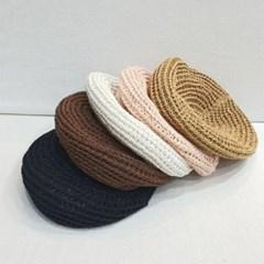니트 뜨개 기본 데일리 꾸안꾸 패션 베레모 모자