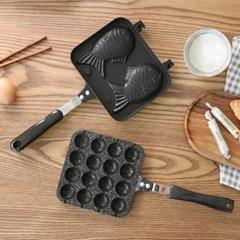 홈베이킹 붕어빵팬 타코야끼팬 택1/ 가정용 간식팬