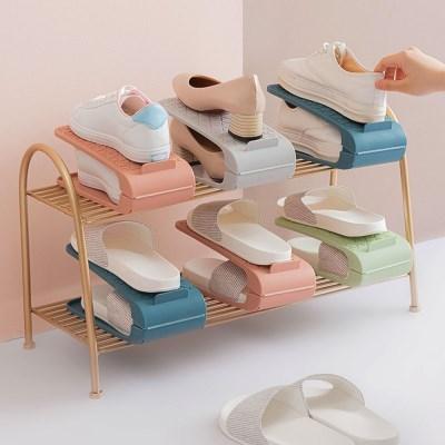 각도조절 컬러 신발정리대 슈즈랙 신발장 공간절약