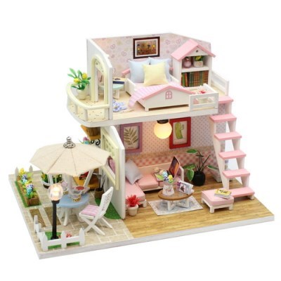 DIY 미니어처 하우스 (난이도 중) -M033_테라스 2층집