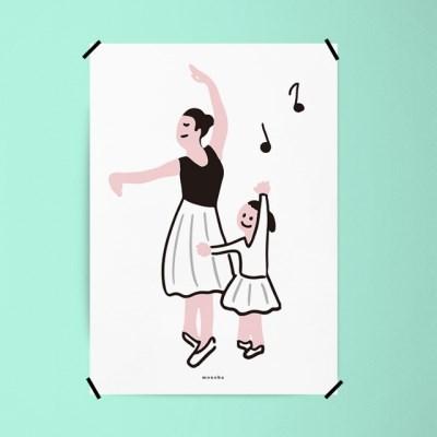 발레 교실 M 유니크 인테리어 디자인 포스터 학원 운동