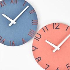 컬러포인트 벽시계(넘버레드/로만블루)