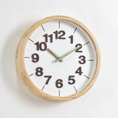 폰트원목벽시계(그린)