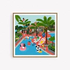 굴리굴리 포스터 / SUMMER POOL (093) (액자포함)