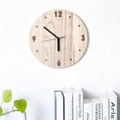 [아이니샵] 내추럴 원목 LED조명 벽걸이 시계 C / D_(317542)