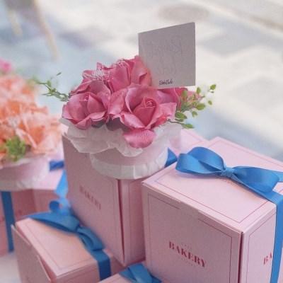 프리저브드&비누꽃 케이크