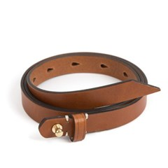BR BUTTON STUD LEATHER BELT (brown)