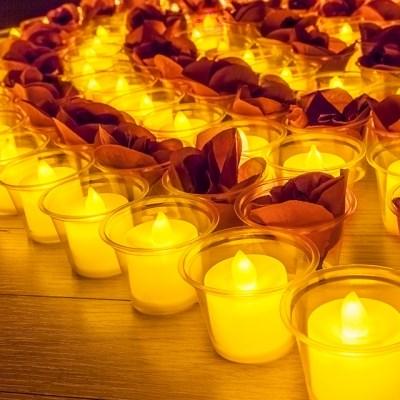 프로포즈 이벤트 용품 LED티라이트 촛불 황색 24입