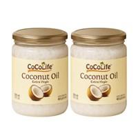 코코라이프 엑스트라버진 비정제 코코넛오일 500ml 2개