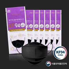 제이에스 큰대형 귀안아픈 KF94마스크 블랙 대형 10매