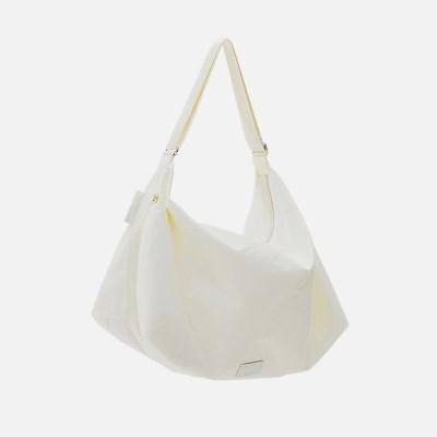 [브레이브걸스은지착용]FABRIC HOBO BAG - WHITE