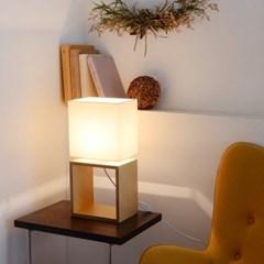 유니크한 자작나무 디자인 더블스퀘어 단스탠드 인테리어 감성 조명