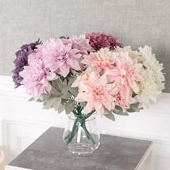파스텔다알리아부쉬 41cm 조화 꽃 인테리어 FAIAFT