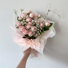 [생화] 로맨틱한 자나 미니장미 꽃다발 (택배가능)