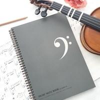 A4 음악노트(작곡노트,오선노트) 60매 - 낮은음자리표