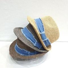 데님 청 챙넓은 꾸안꾸 데일리 패션 페도라 모자