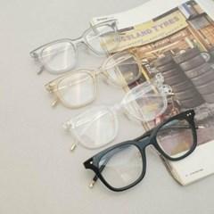 뿔테 사각 도수없는 가벼운 그레이 데일리 패션 안경