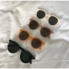 둥근 아이보리 가벼운 UV400 데일리 패션 선글라스