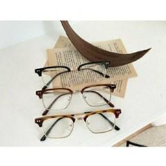 반테 사각 호피 도수없는 가벼운 데일리 패션 안경