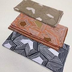 실키 줄무늬 롱 블랙 데일리 미시 패션 스카프