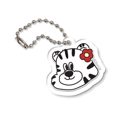 FLOWER TOBY FACE-CLEAR(KEYRING)_(1844704)